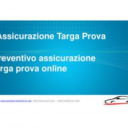 Preventivo Assicurazione targa prova on line